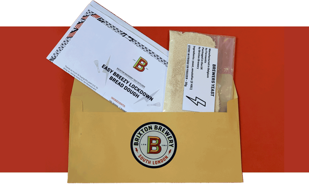 yeast sachets in envelope