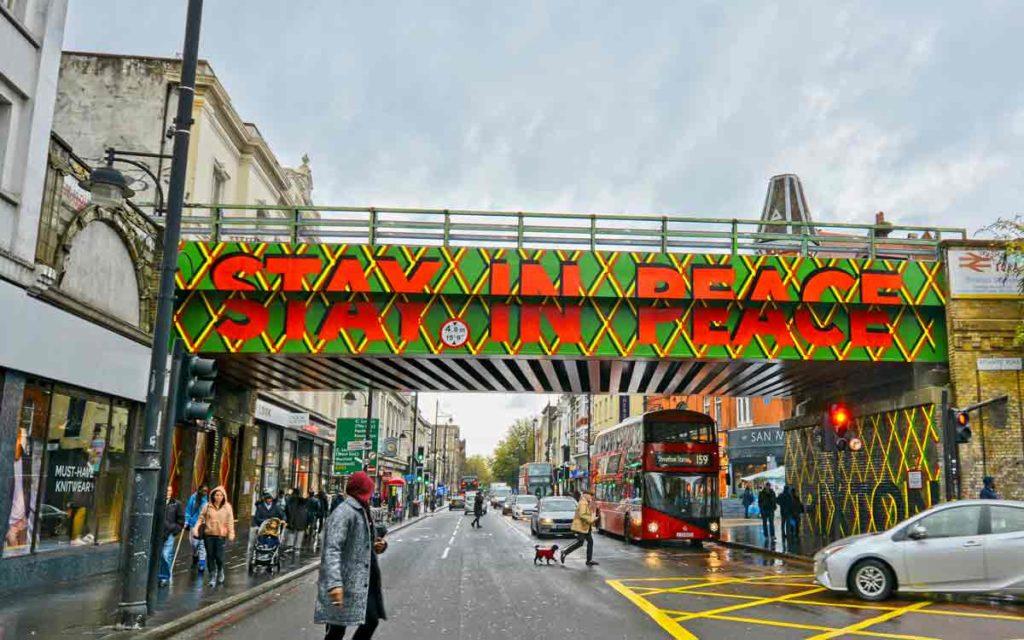 Brixton Road bridge Stay In Peace