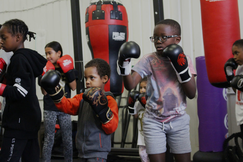 Youngsters at Dwaynamics boxing club