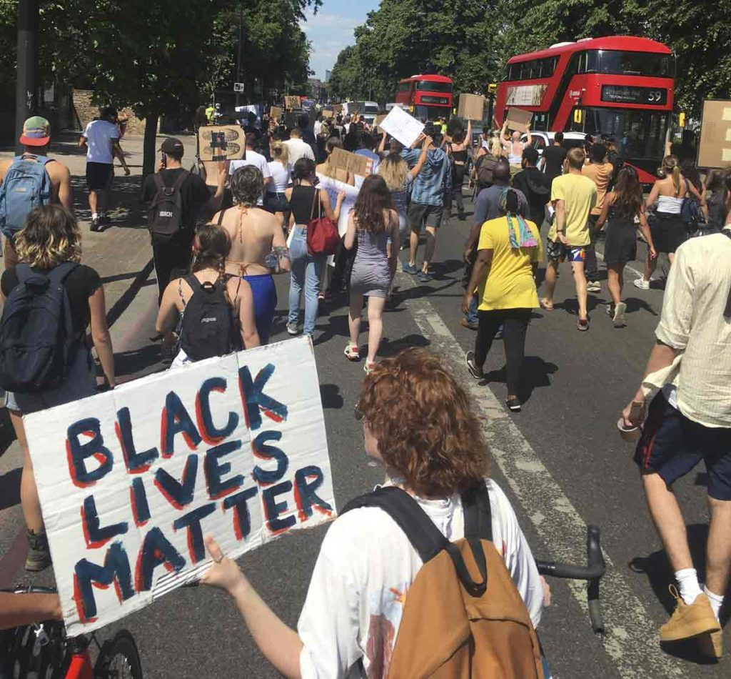 Black Lives Matter protest Brixton 1 June 2020
