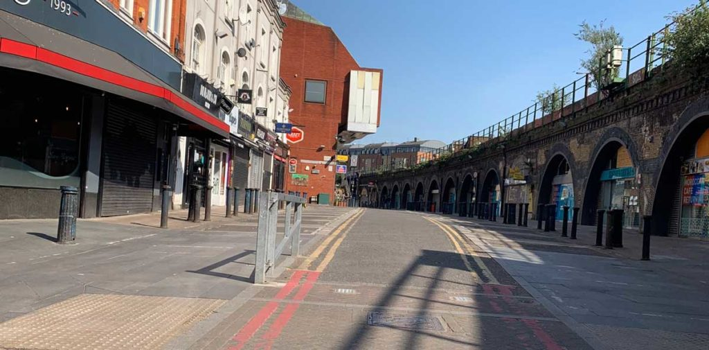 Brixton Station Road towards the Rec with no one about