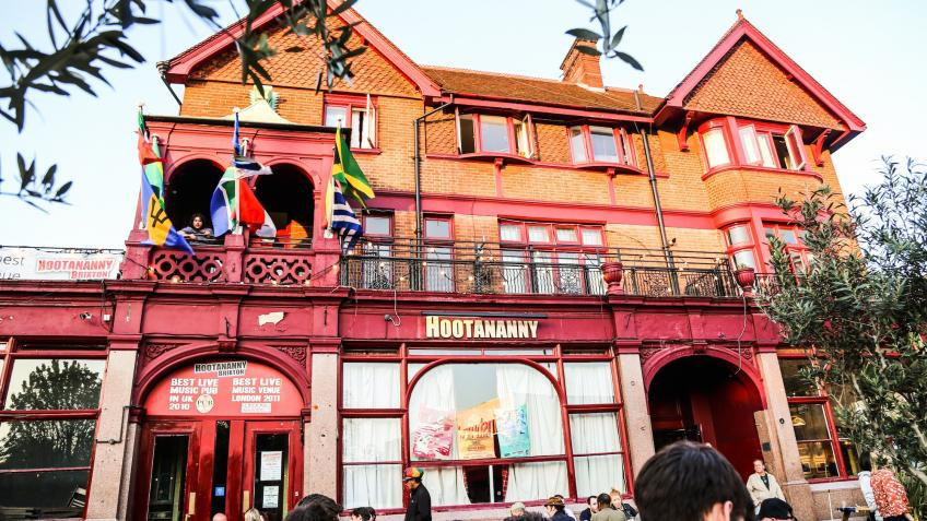 Exterior of the Hootananny pub in Brixton