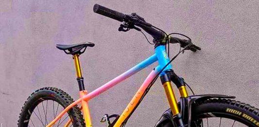 Bike with stunning paint job