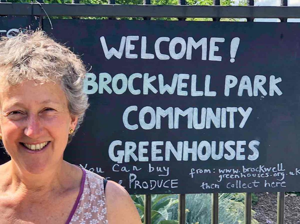 Kate Sebag director Brockwell Park Community Greenhouses