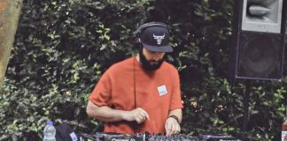 DJ in open air