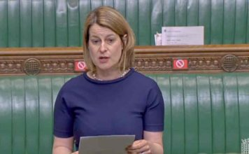 MP speaking in House of Commons