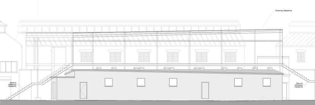 Image of the planned building under Lost in Brixton Village from the planning application for it