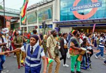 protest march in Brixton