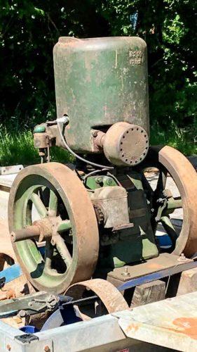 antique stationary engine
