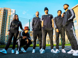 street crew in Adidas trainers