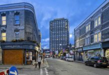 CGI of street scene in Brixton