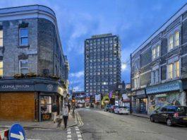 CGI of street scene in Brixton