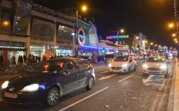 night traffic on main road