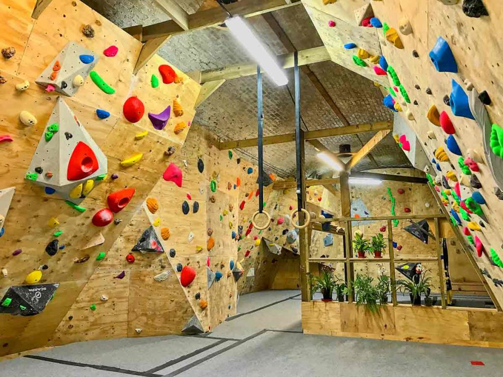 interior climbing walls