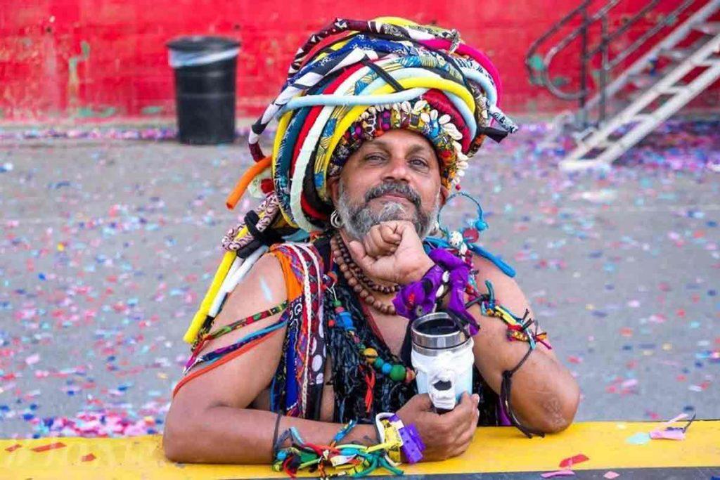 man in carnival costume