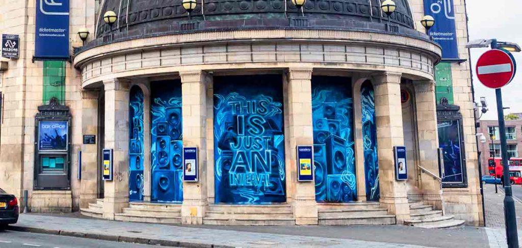 Exterior of Brixton O2 Academy