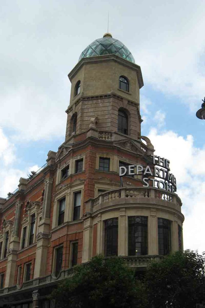 The renovated Department Store began life as an extension to the Bon Marche, added c.1910.
