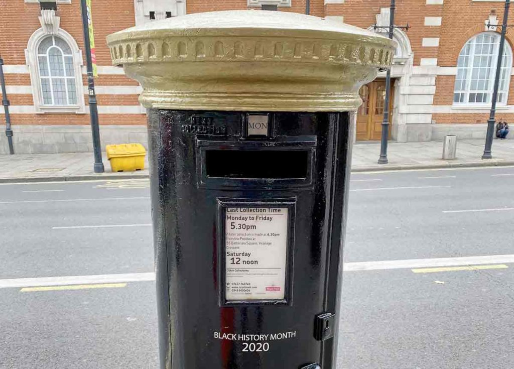 postbox painted black
