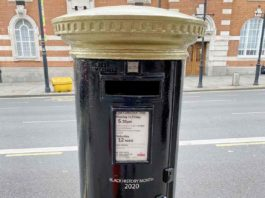 postbox painted black