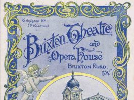 """Programme from 1896. The play being shown is, """"A Royal Divorce"""" (concerning Napoleon's divorce from Joséphine)"""