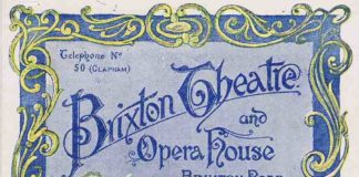 "Programme from 1896. The play being shown is, ""A Royal Divorce"" (concerning Napoleon's divorce from Joséphine)"