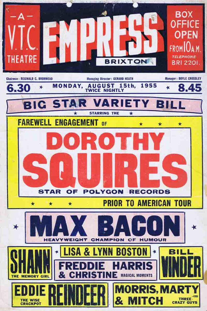 1955 poster advertising the Empress provided by the Brixton Society