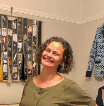 woman in sewing workroom
