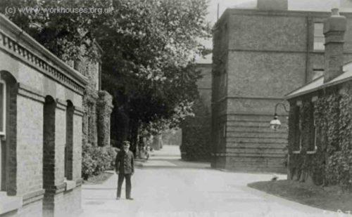 South West Fever Hospital - Landor Road entrance from the north, c.1907. © Peter Higginbotham