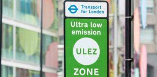 ULEZ road sign