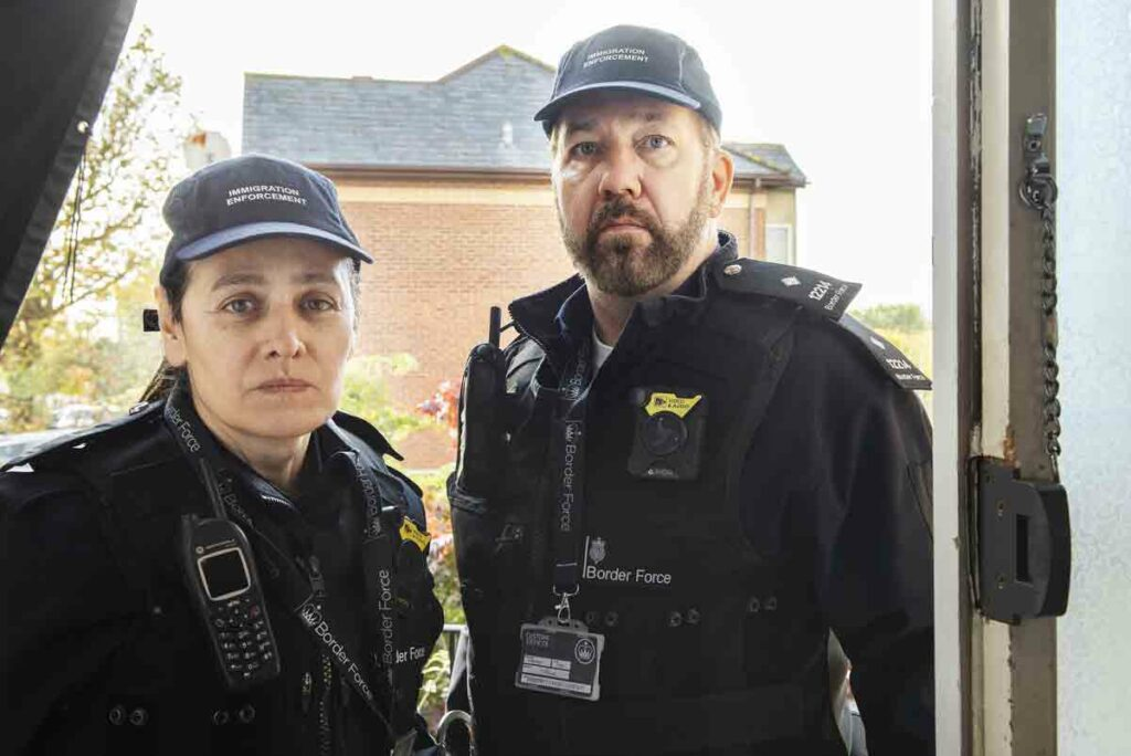 actors dressed as border force operatives