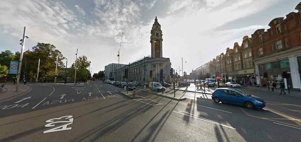 street scene with Edwardian building