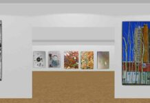 screen grab of digital art gallery