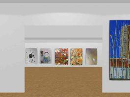 screen grab of digital art gallery