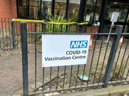 NHS covid vaccination sign