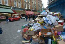 rubbish in street