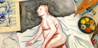 painting of nude man