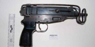macine pistol as police exhibit