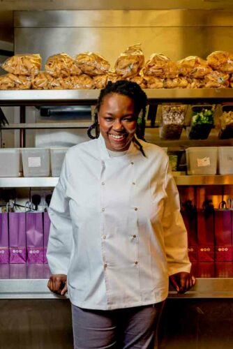 woman in chef uniform
