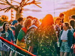 music festival-goers