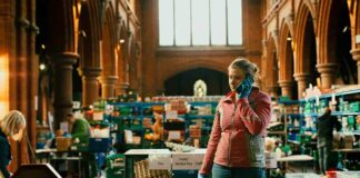 woman at work in a Foodbank