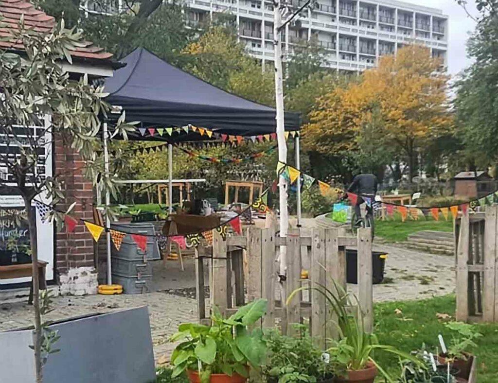 garden and open air cafe