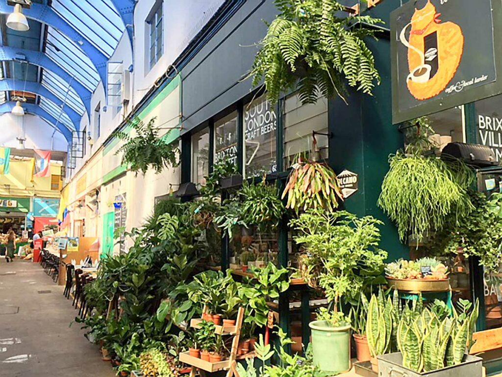 plant shop exterior display