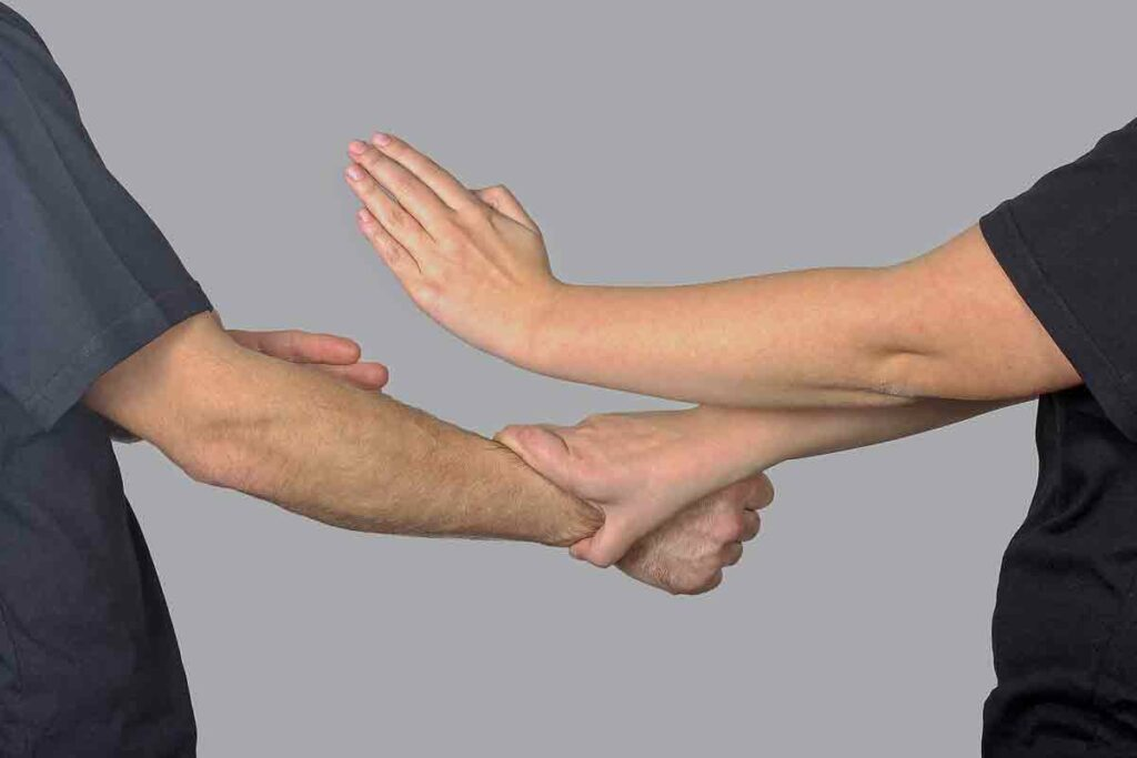 arms and hands in exercise