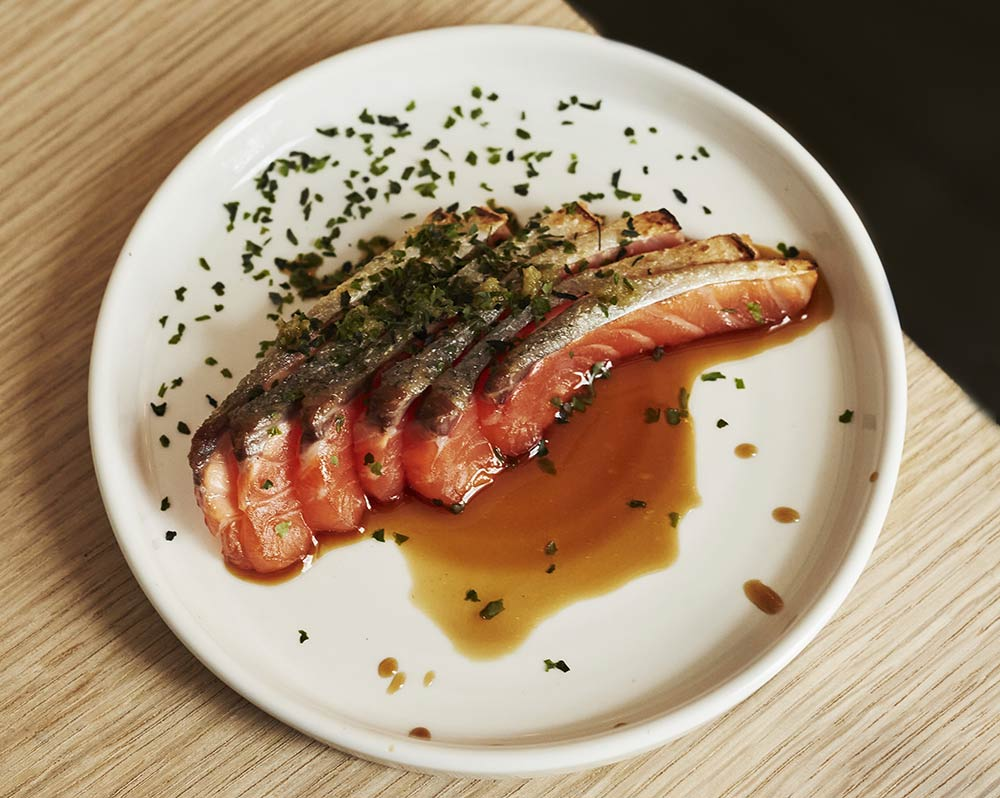 plate of food – fish