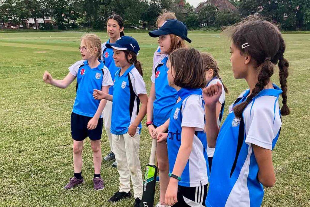 girls cricket training