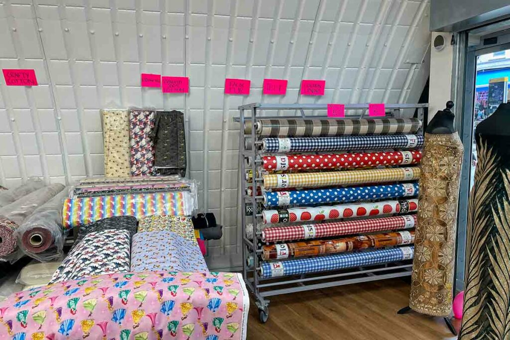 fabric for sale in shop
