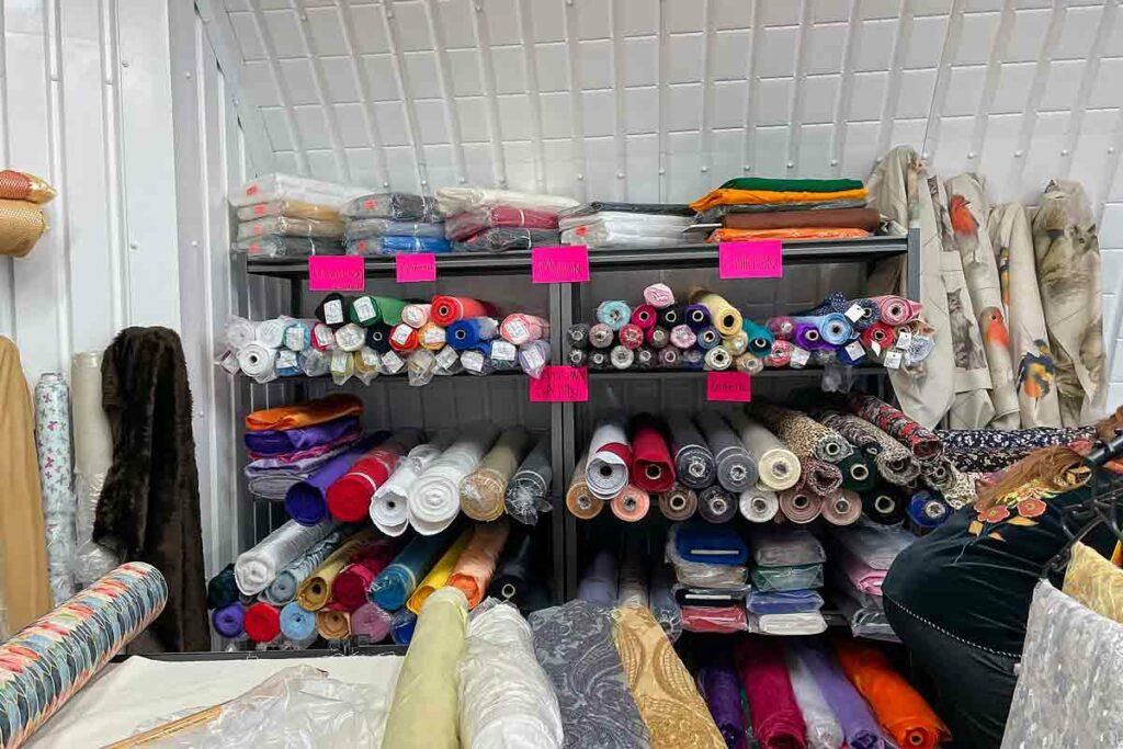 fabrics for sake in shop