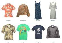 screen grab from clothing website