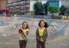 two girls in skatepark