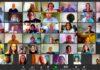 large online meeting screen grab